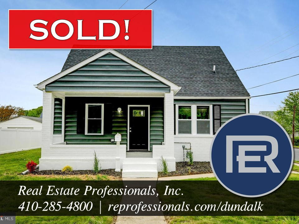 Real Estate Professionals, Inc. REALTORS recent home sold in Dundalk, MD 21222